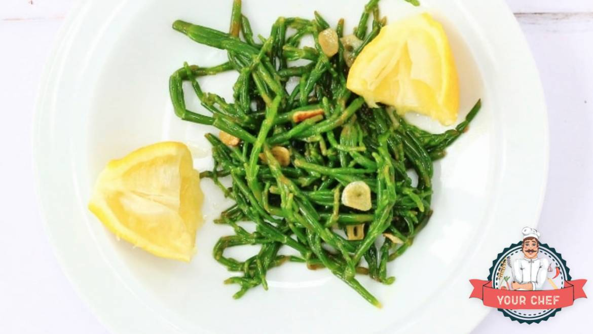 ❈ Steamed Samphire With Olive Oil and Garlic ❈
