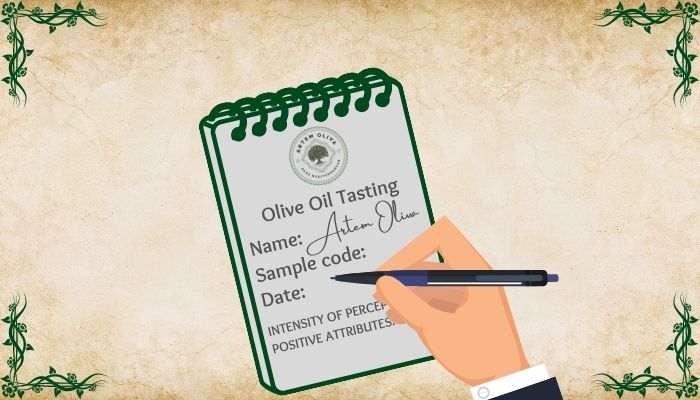 Olive Oil Tasting Evaluation Form