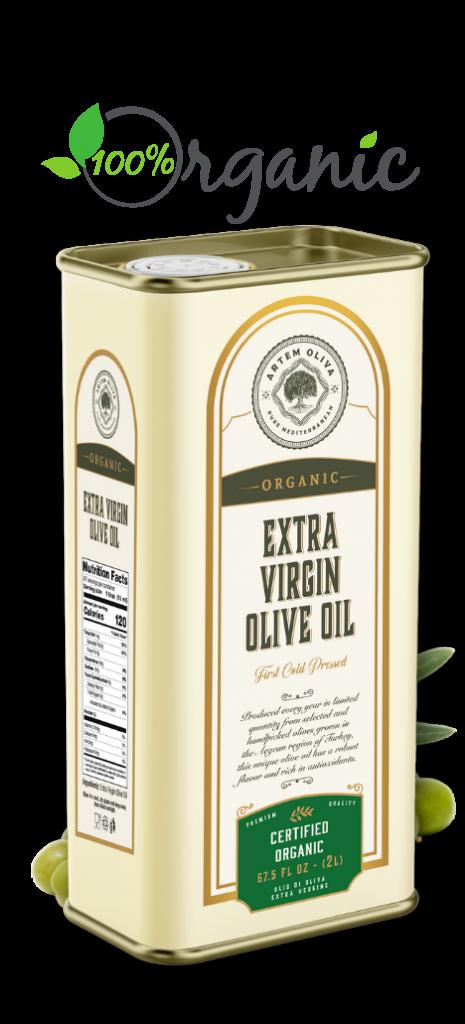 Artem Oliva Organic Extra Virgin Olive Oil in 5LT Tin Can