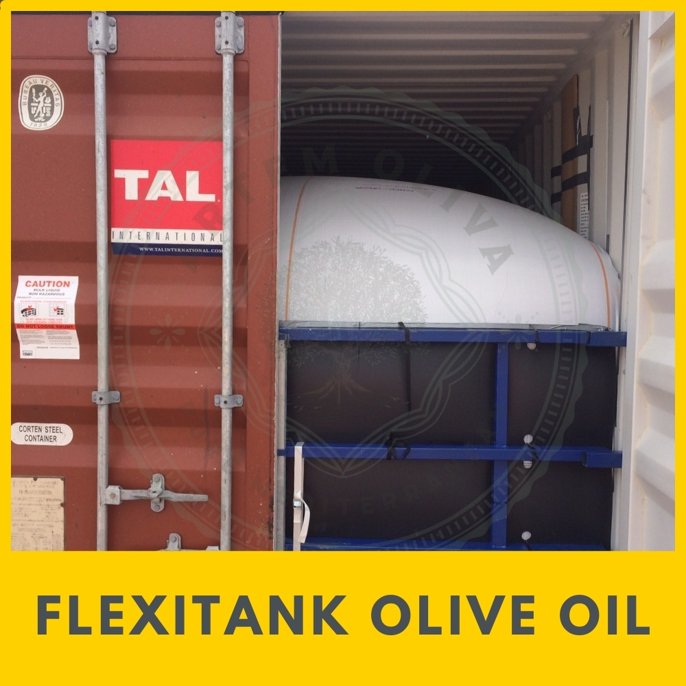 Flexitank olive oil from Artem Oliva. Bulk Olive Oil shipment in Flexitank