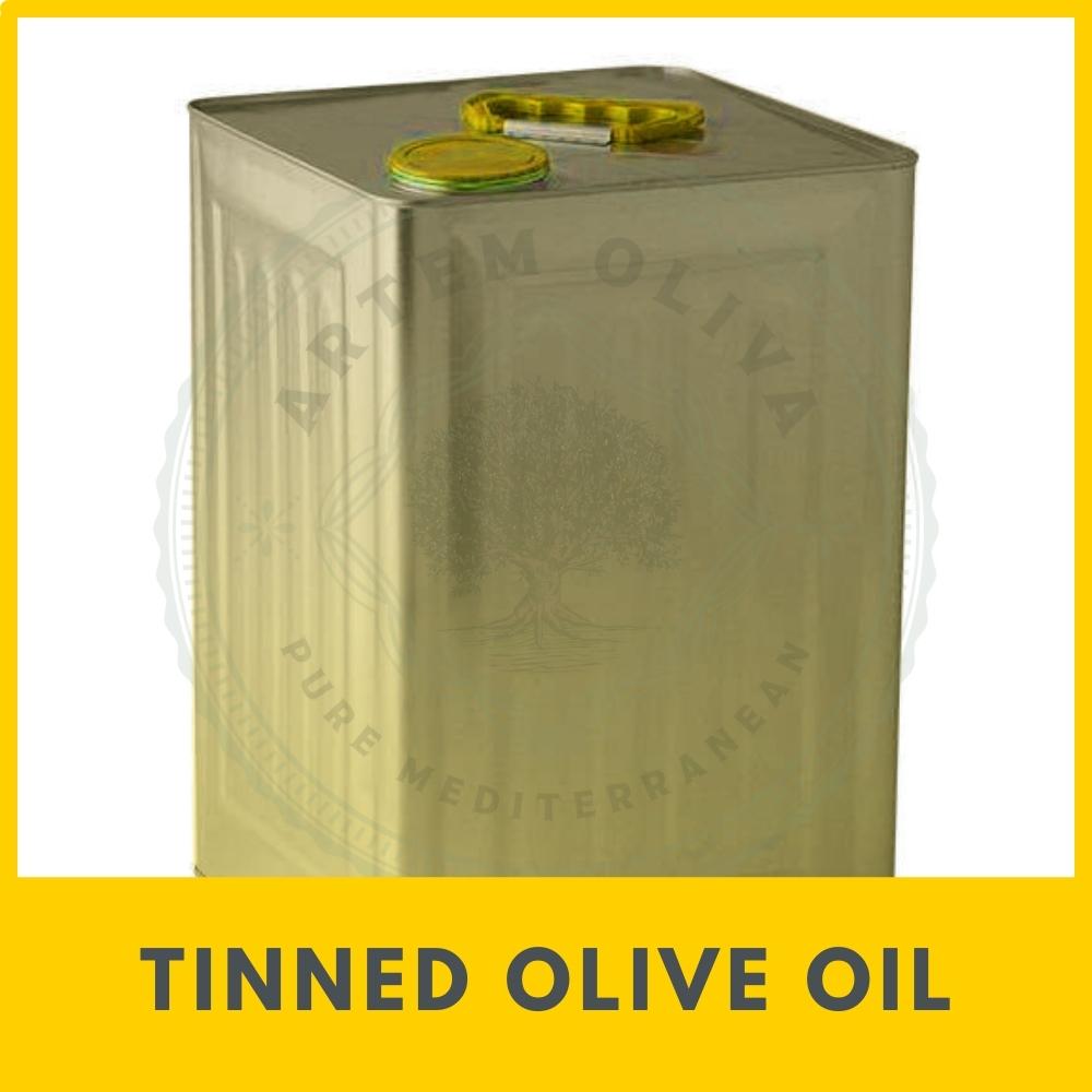 18L Olive Oil Tin from Artem Oliva. Bulk Olive Oil in 18L Tin.