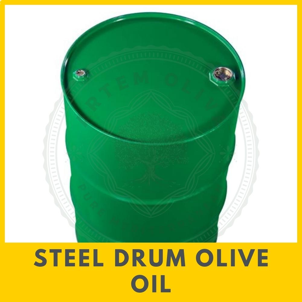 Steel Drum Olive Oil from Artem Oliva. Bulk Olive Oil Shipment in Steel Drums.